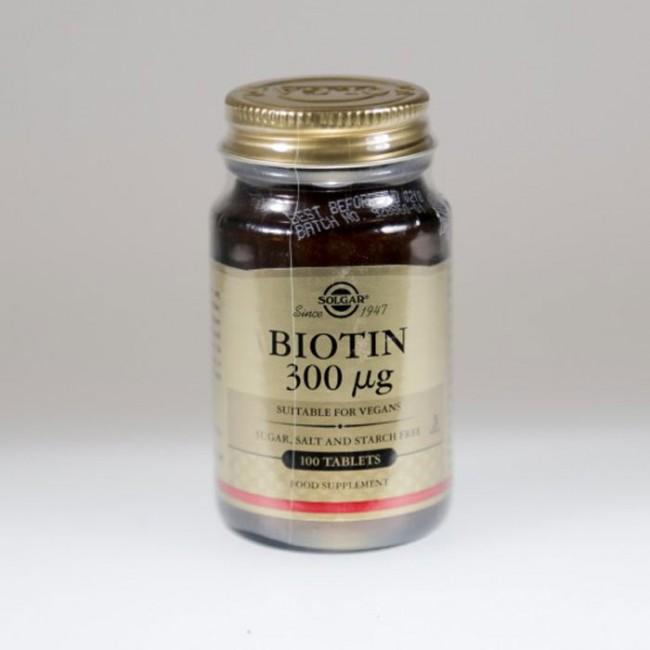 SOLGAR BIOTIN 0.3MG TBL A100