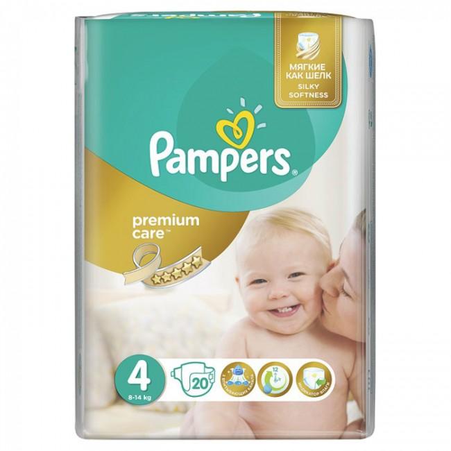 PAMPERS PELENE PREMIUM CARE 4 A20