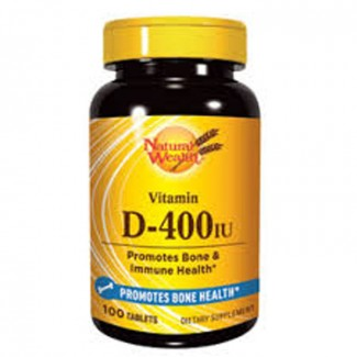 NATURAL WEALTH VITAMIN D 400IJ TABLETE A100