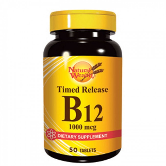 NATURAL WEALTH VITAMIN B12 1000MG A50