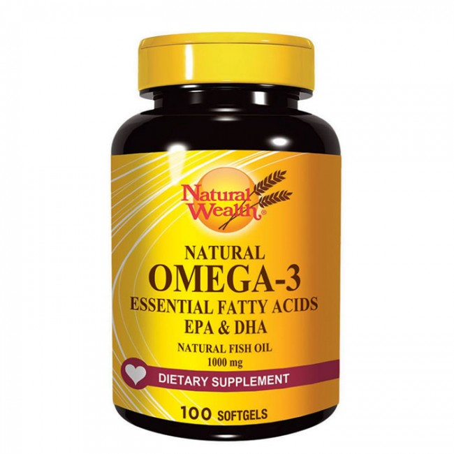 NATURAL WEALTH OMEGA 3 KAPSULE A100