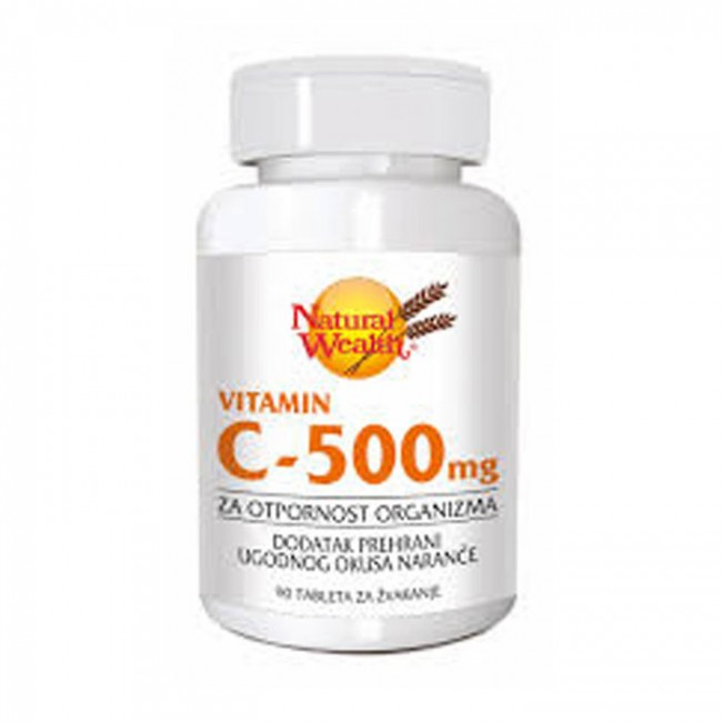 NATURAL WEALTH C-500 TABLETE ZA ŽVAKANJE A 90