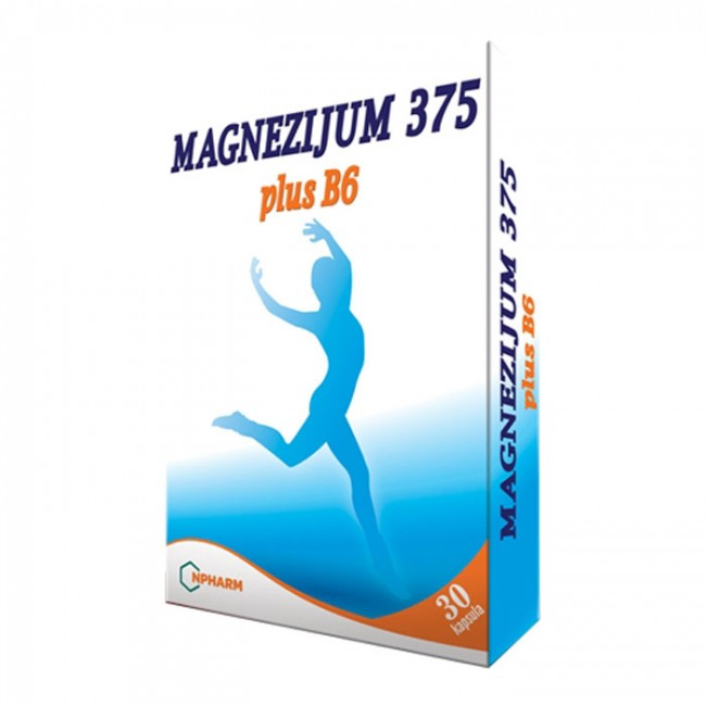 MAGNEZIJUM 375 PLUS B6 KAPSULE A30